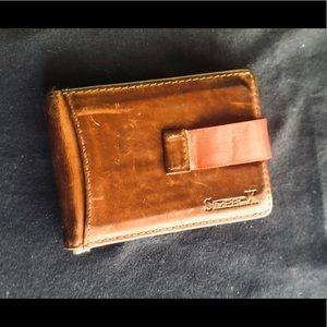 Leather Money Clip Pocket Wallet